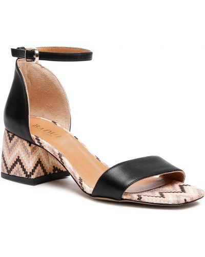 Czarne sandały Badura