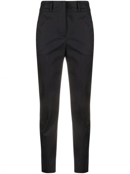 Spodnie z wysokim stanem elastyczne czarne Incotex