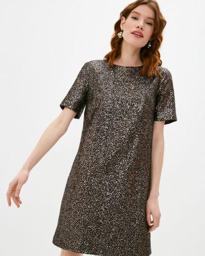 Коричневое вечернее платье Lusio