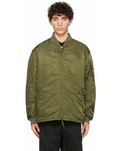 Бомбер атласная - зеленая Engineered Garments