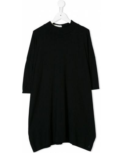 Платье с рукавами свободного кроя черное Nostra Santissima Kids