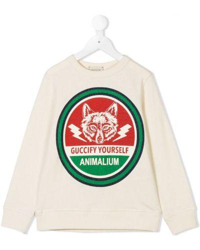 Толстовка с принтом узкого кроя Gucci Kids