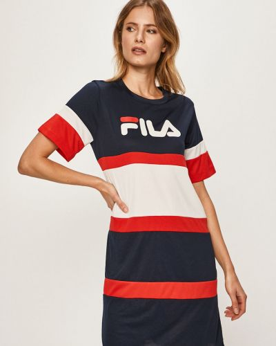 Платье мини с поясом с вырезом Fila