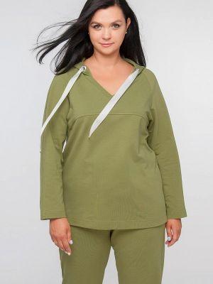 Худи - зеленое Лимонти