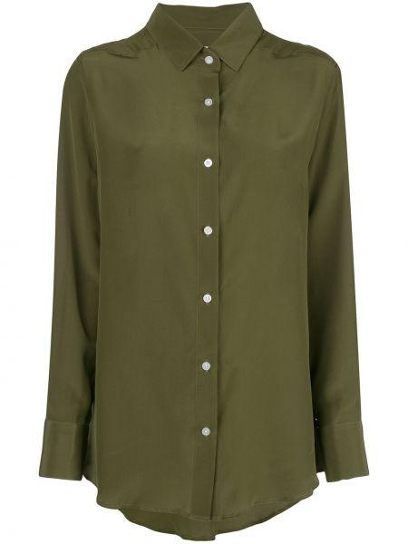 Приталенная оливковая классическая рубашка с воротником с манжетами Dresshirt