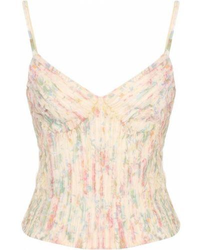 Топ с цветочным принтом облегающий Ralph Lauren