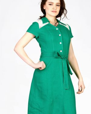Платье с поясом платье-сарафан льняное Setty's Collection