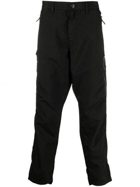 Czarne spodnie z paskiem Stone Island Shadow Project