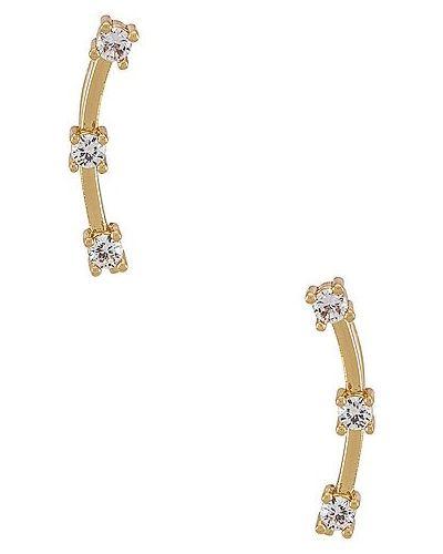 Złote kolczyki sztyfty pozłacane z cyrkoniami Miranda Frye