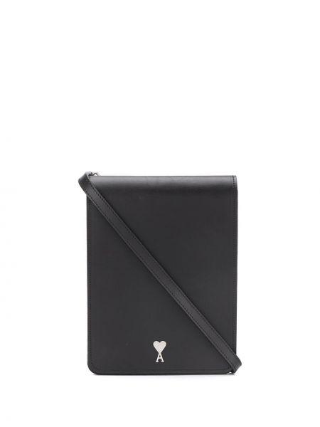 Кожаная сумка - черная Ami Paris
