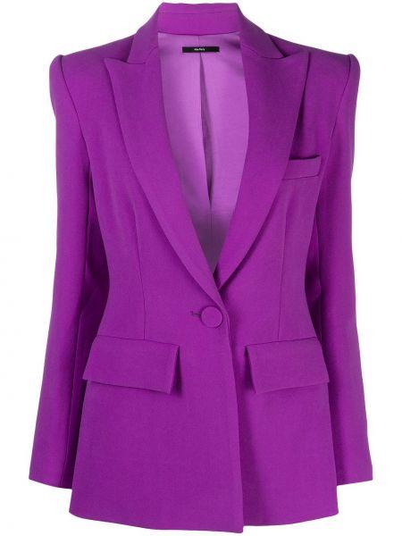 Малиновый классический пиджак с карманами с длинными рукавами Alex Perry