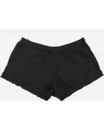 Черные шорты на резинке H&m