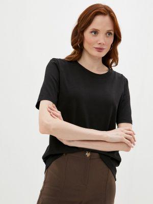 Черная футболка с короткими рукавами Anastasya Barsukova