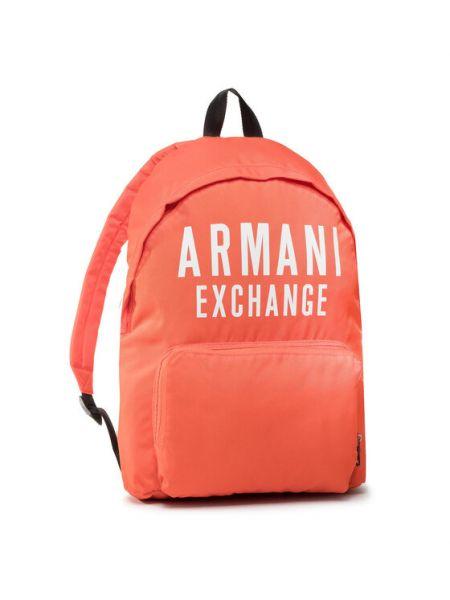 Plecak - pomarańczowy Armani Exchange