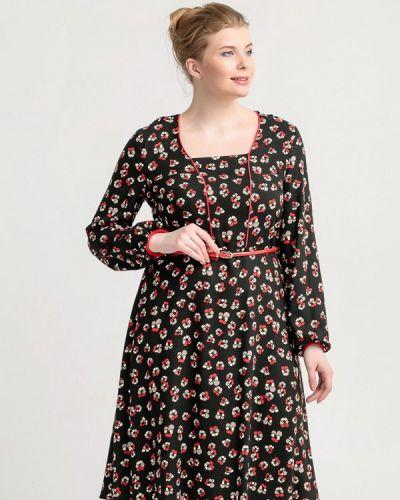 Повседневное платье осеннее черное Larro
