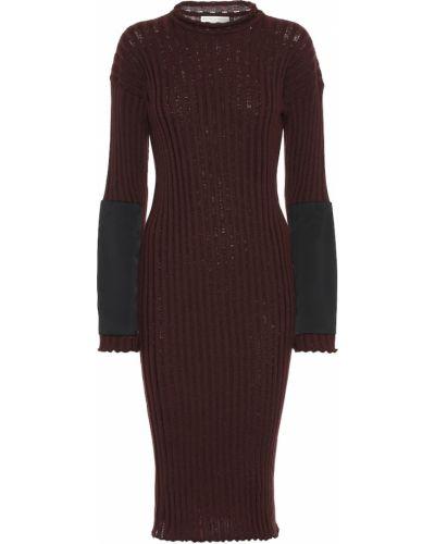 Вечернее платье миди вязаное Bottega Veneta
