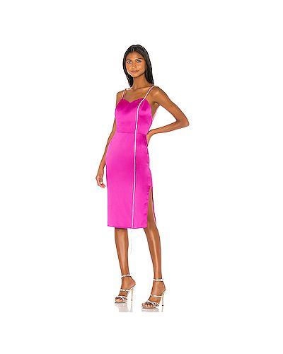 Розовое платье миди с вырезом Anouki