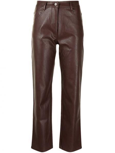 Brązowe spodnie skorzane Miaou