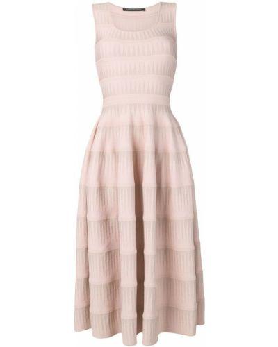 Трикотажное платье миди - розовое Antonino Valenti