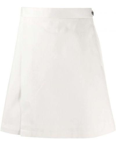 Хлопковая белая юбка-шорты в полоску Thom Browne