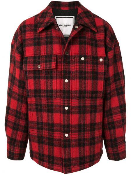 Классическая красная классическая рубашка с воротником на пуговицах Wooyoungmi