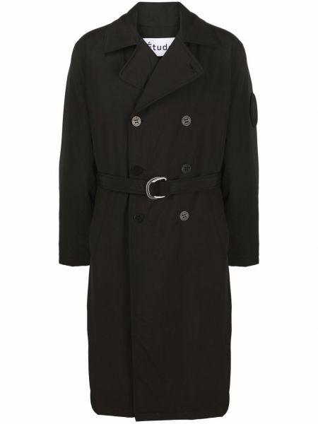 Czarny długi płaszcz Etudes