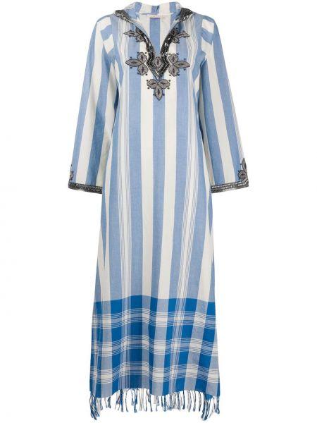 Платье макси с бахромой с бисером Tory Burch