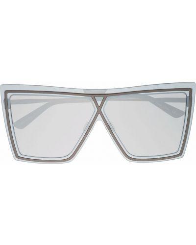 Czarne okulary oversize srebrne Christian Roth