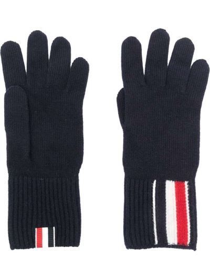 Białe rękawiczki wełniane Thom Browne