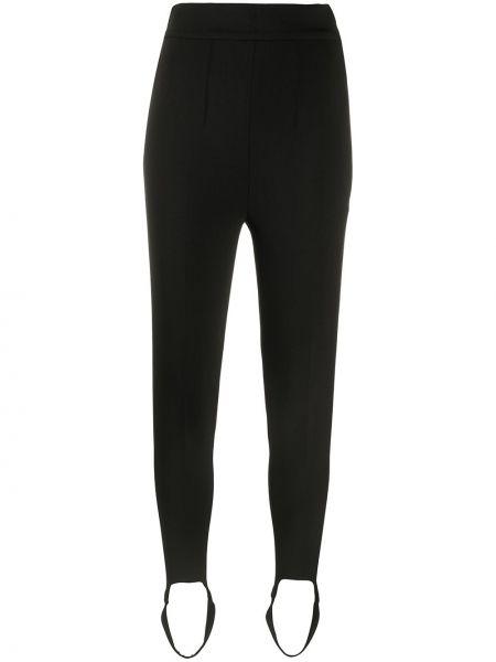 Zawężony wełniany czarny spodnie skinny z kieszeniami Isabel Marant