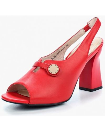 Красные босоножки на каблуке Marie Collet