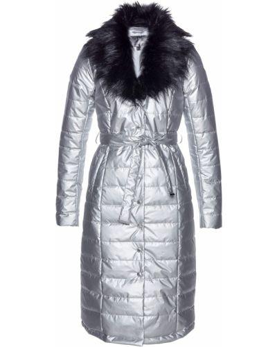 Серебряная стеганая куртка Bonprix