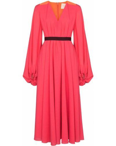 Różowa sukienka wełniana Roksanda