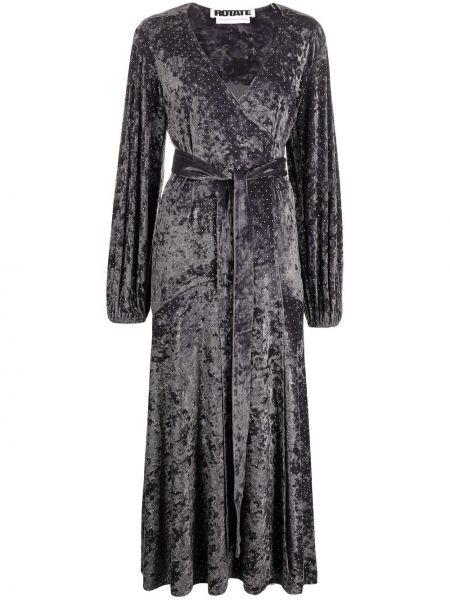 Платье в горошек - серое Rotate