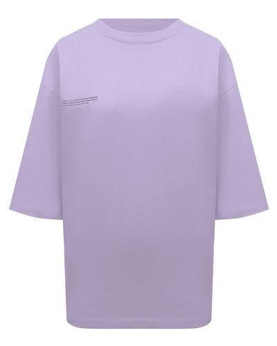 Хлопковая футболка - сиреневая Pangaia