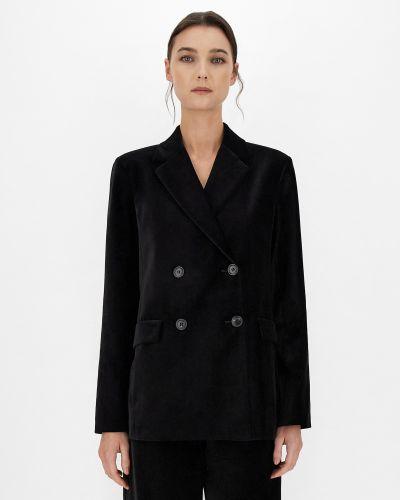 Бархатный пиджак - черный Maxmara