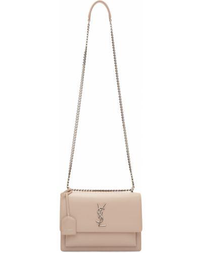 Różowy łańcuszek srebrny Saint Laurent