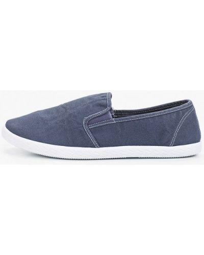 Синие текстильные слипоны Beppi
