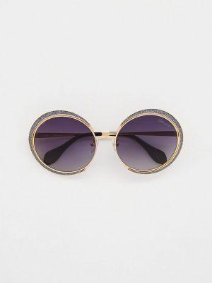 Солнцезащитные очки золотые Blumarine