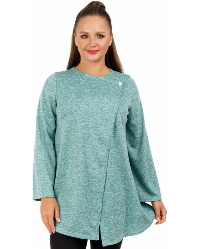 Свободная с рукавами расклешенная блузка с брошью Liza Fashion