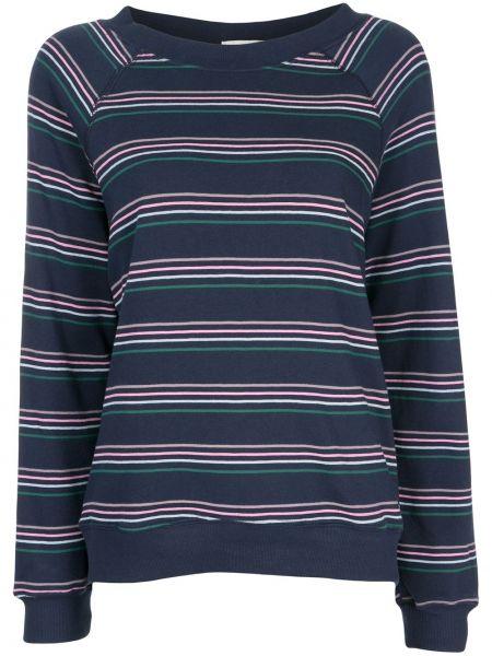 Niebieska bluza w paski z długimi rękawami Wildfox