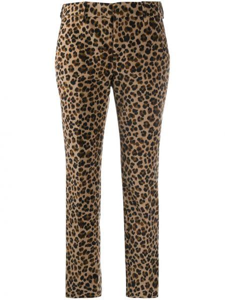 Хлопковые черные укороченные брюки узкого кроя Pt01