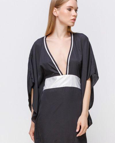 Черное пляжное платье Freya