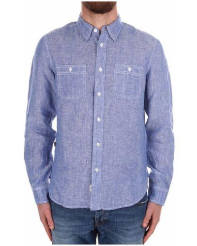 Niebieska koszula z długimi rękawami Blauer