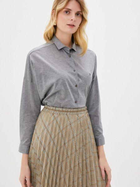 Рубашка с длинным рукавом серая Naumi
