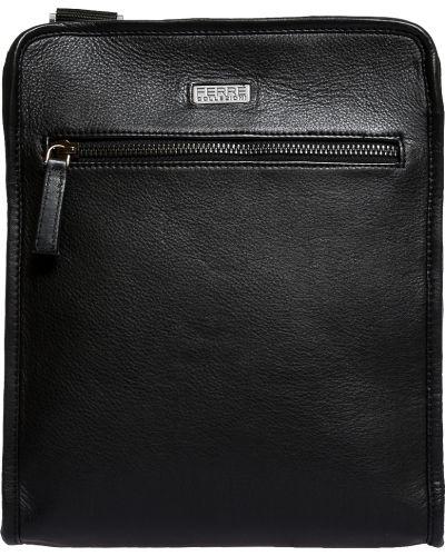 Кожаная сумка - черная Ferre Collezioni