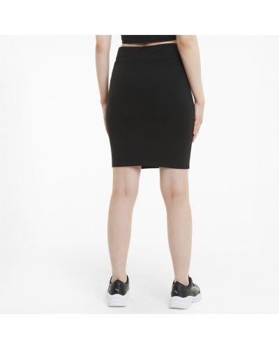 Черное платье из плотной ткани Puma