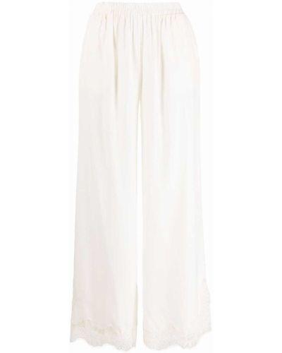 Шелковые укороченные широкие брюки с завышенной талией Gold Hawk