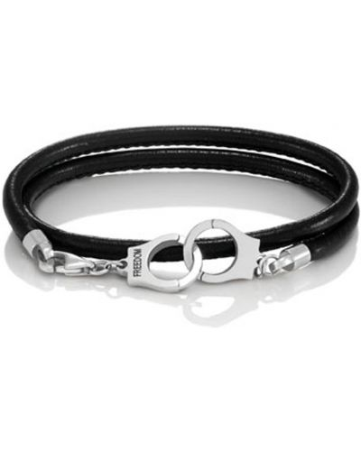 Кожаный браслет - черный Nomination