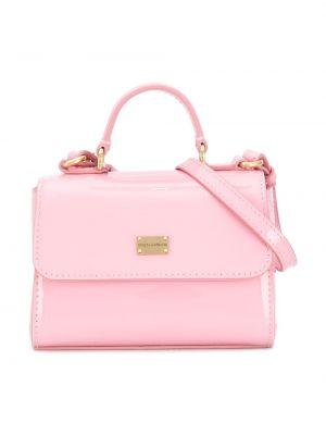 Розовая сумка на плечо Dolce & Gabbana Kids
